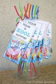 Have a Kool Summer!  And we made these for his classmates.....