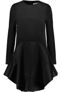 CHLOÉ Wool And Silk-Blend Satin Dress. #chloé #cloth #dress