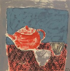 Red Teapot by Rosemary Vanns