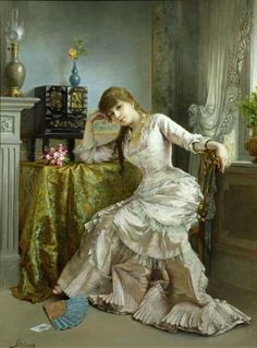alfred stevens art | Image: Alfred Stevens - Portrait of a Young Woman