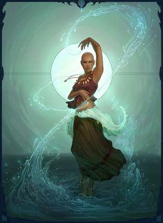 Ayurda Picture  (2d, fantasy, water, female, mage, caster, girl, woman, magic)
