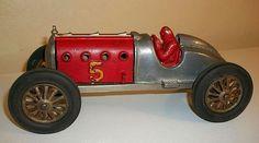 Vintage Hubley No 5 Red Devil Racer - Cast Iron - 1920's.