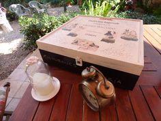 Cajas de vino recicladas