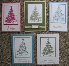 Kathryns Stampin World: Christmas Cards - Solemn Stillness