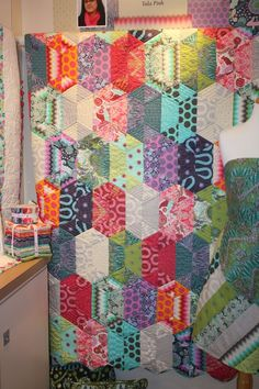 "Jaybird Quilts ""Disco"" quilt pattern using Tula Pink fabrics"