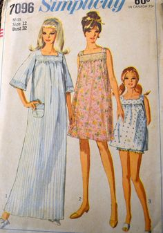 Vintage 60's Sewing Pattern Simplicity 7096 by GoofingOffSewing, $10.00