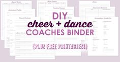 DIY Cheer and Dance Coaching Binder with FREE Printable Planner sheets!