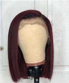 Cute straight bob wigs for black women lace front wigs human hair wigs. Click pi… Cute straight bob wigs for black women lace front wigs human hair wigs. Click picture to buy this wig. My Hairstyle, Weave Hairstyles, Black Hairstyles, Gorgeous Hairstyles, Prom Hairstyles, Trendy Hairstyles, Wig Styling, Sew In Wig, Curly Hair Styles
