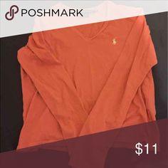 Pink Ralph Lauren Shirt Size Medium.. Pink w/ white logo.. Long sleeve.. Ralph Lauren Tops Tees - Long Sleeve