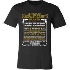 Concealed Carry Prayer T-Shirt