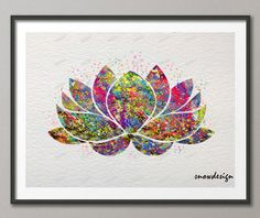 Aliexpress.com : Buy Lotus Flower Yoga Symbol watercolor wall art canvas painting Buddha poster print Pictures for Home Decor wall hanging sticker from Reliable gifts umbrella suppliers on Dottie Design World