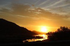 Coucher De Soleil, Montagnes, Lac