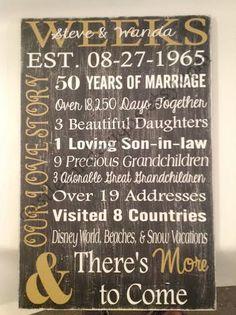50th anniversary gift anniversary gift golden anniversary wedding gift