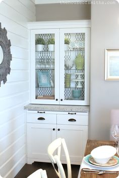 doing this wall treatment in the kids bath since the walls are so messed up from a bad paper job.  will do it vertically though.    The House of Smiths - Home DIY Blog - Interior Decorating Blog - Decorating on a Budget Blog