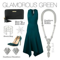 Stella & Dot | Glamorous Green | Trunk Show Exclusive Style! Spend $50 this month and get our gorgeous silver stunners for 50% OFF! Shown: Pegasus Silver Statement, Christina Link Bracelet, Double Clutch Metallic Perf, Hematite Studs. #Stelladot #StelladotStyle #Silver #Fashion #WomensFashion #TrunkShowExclusives #PolyvoreByXOKnot