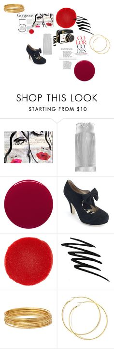 """""""Newsprint pretty"""" by alisafranklin on Polyvore featuring Oliver Gal Artist Co., Brunello Cucinelli, Betsey Johnson, Smith & Cult, Lola Ramona, Christian Louboutin, Smashbox and Bold Elements"""