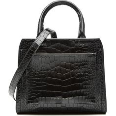 Victoria Beckham Snake-Embossed Patent Leather Shoulder Bag (30.678.735 IDR) ❤ liked on Polyvore featuring bags, handbags, shoulder bags, black, python handbag, victoria beckham purses, shoulder handbags, travel shoulder bag and python purse
