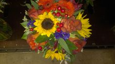 Hand made very full wedding bouquet at Americas Florist. Perfect for a fall wedding! americasflorist.com