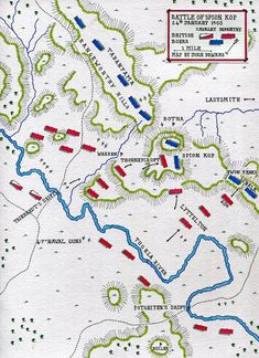 Map of the Battle of Spion Kop on January 1900 in the Boer War: map by John Fawkes British Soldier, Battle, War, Soldiers, Porsche, January, Porch