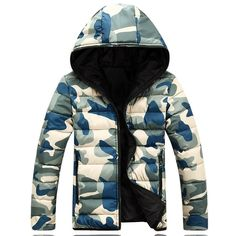 Camouflage Warm Jacket Material: Cotton,Polyester, Down