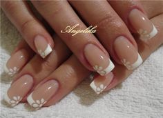 Изображение Acrylic White Tips, Crazy Nails, Dream Nails, Cute Nail Designs, Flower Nails, French Nails, Smokey Eye, Nails Inspiration, Beauty Nails