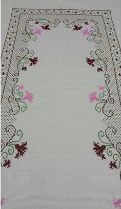 Cross Stitch Heart, Cross Stitch Borders, Cross Stitch Designs, Cross Stitching, Cross Stitch Embroidery, Hand Embroidery, Machine Embroidery, Embroidery Patterns Free, Easy Crochet Patterns