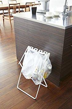 山崎実業 ゴミ箱 ゴミ袋&レジ袋スタンド タワー ホワイト 7908