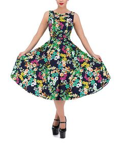 Love this Eternal Floral A-Line Dress - Plus Too on #zulily! #zulilyfinds