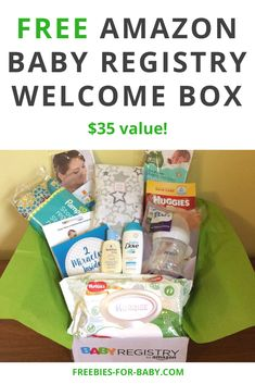 New Moms can get a free gift ($35 value) just for creating an Amazon Baby Registry! The free Amazon baby registry welcome box contains free diapers, baby bottles, wipes, free baby samples, even full-size free baby stuff. Get your free Amazon baby box today! My Little Baby, Mom And Baby, Baby Girls, Baby Freebies, Pregnancy Freebies, Gripe Water, Baby Car Mirror, Amazon Baby, Baby Sleepers