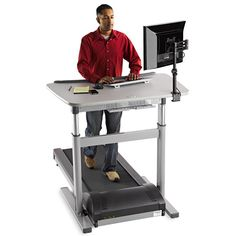 LifeSpan TR800 DT7 Treadmill Desk Incorporates The TR800 Treadmill Desk  Base With An Electric Height