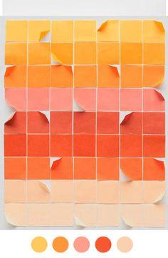 orange pink red peach
