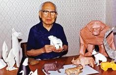 Akira Yoshizawa was the most famous origami artist in the world. Modern Origami symbol notation and the wet folding techniques were only a few of his contributions to the art.  He wrote 18 origami books and influenced all modern paper folders.