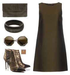 """Shades of dark"" by deeyanago ❤ liked on Polyvore featuring RED Valentino, BOXCLUTCH and popmap"