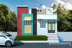 Flat House Design, House Balcony Design, House Front Design, Modern House Design, Wooden Main Door Design, Room Door Design, House Elevation, Front Elevation, Wall Designs For Hall