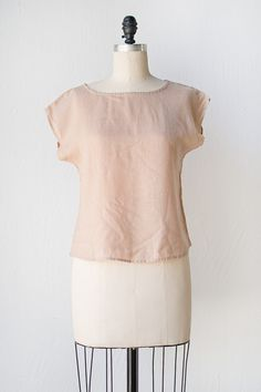 vintage 1980s top | Rose Clay Top