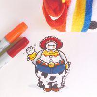 Baymax the Cowgirl by DeeeSkye