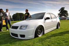 White MK4 Jetta Similar style as what I am working towards.