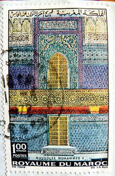 beautiful stamp Morocco 1.00 Mausolee Mohamed V stamp, Morocco