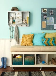Nothing says 'welcome home' like an organized #mudroom. #homegoodshappy