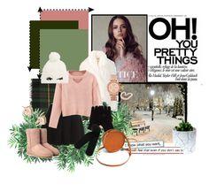 """""""Rose gold soul"""" by nina-del-sol ❤ liked on Polyvore featuring Nearly Natural, Alexander Wang, UGG, Hiho Silver, STELLA McCARTNEY, WithChic, Kate Spade, Monki, FOSSIL and Sara Barner"""