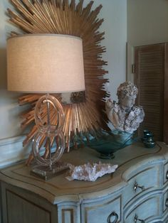 Chrome and Lucite lamp at Nancy Price