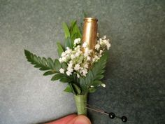 Shotgun Shell Boutonniere | Yes, that is a shotgun shell!