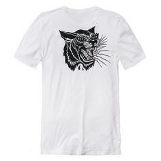 GLOBE Dover tee-shirt white / black tiger 35,00 € #skate #skateboard #skateboarding #streetshop #skateshop @playskateshop