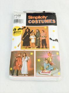 Simplicity Witch, Pocahontas, Grim Reaper, Pirate, Devil, Angel, Genie Costume Pattern, Simplicity 9168
