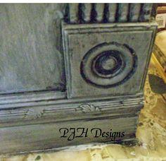 PJH Designs Hand Painted Antique Furniture: Kitchen Remodel: DIY Distressed Vintage Cabinets