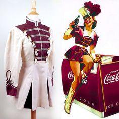 1950s // Majorette Pin Up Dress // Cheerleader Uniform 50s TRUE VINTAGE PIN UP FASHION