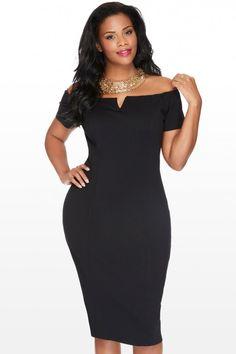 Plus Size Hadley Off Shoulder Midi Dress | Fashion To Figure $44.90