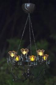 battery-run outdoor chandelier