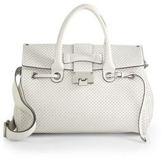 Jimmy Choo Rosalie Studded Grainy Satchel