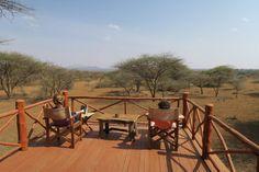 Aussichtsterrasse im Severin Safari Camp, Kenia mit Kindern